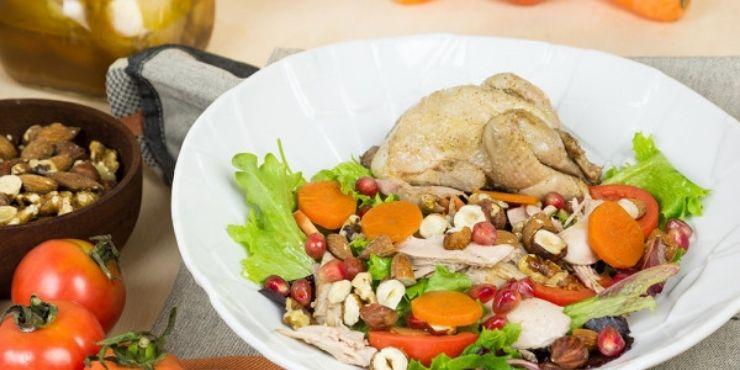 Saladas diferente para restaurantes de codorniz