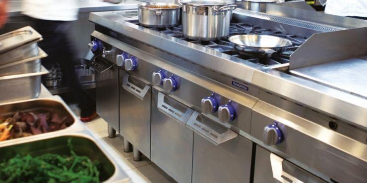 Fogão América da linha de cozinhas profissionais Tramontina