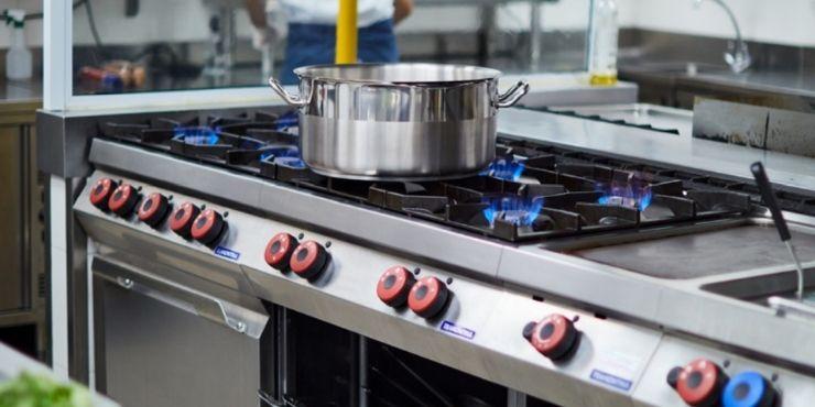 Fogão Europa da linha de cozinhas profissionais Tramontina